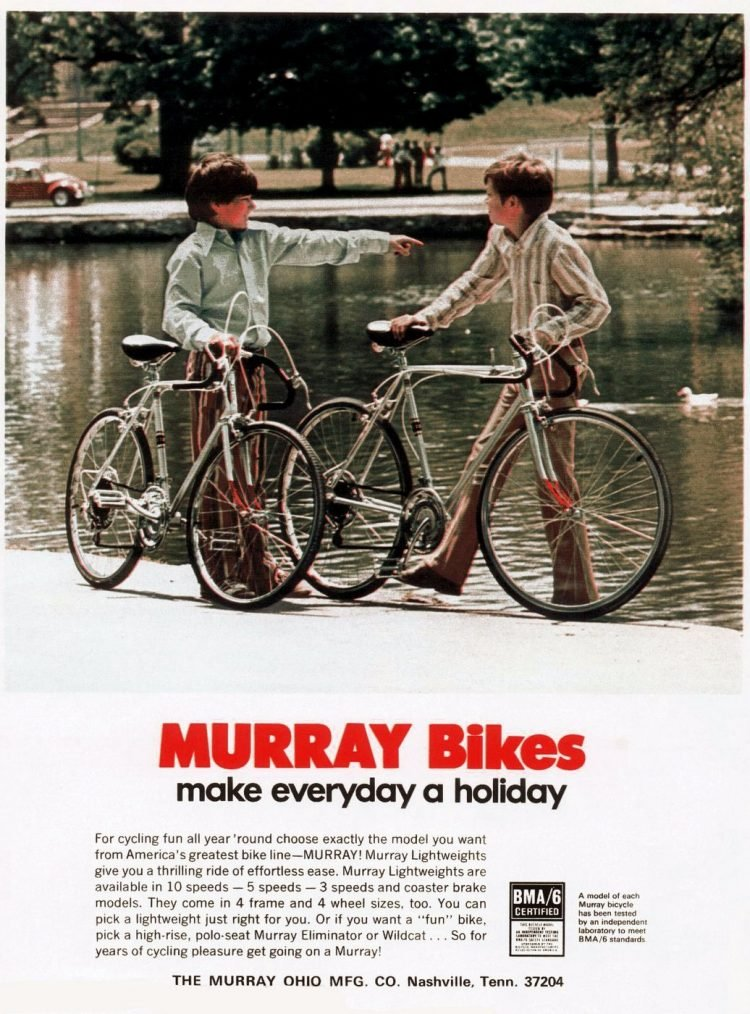 Murray bikes for kids from 1972