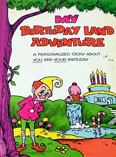 My Birthday Land Adventure Me Book