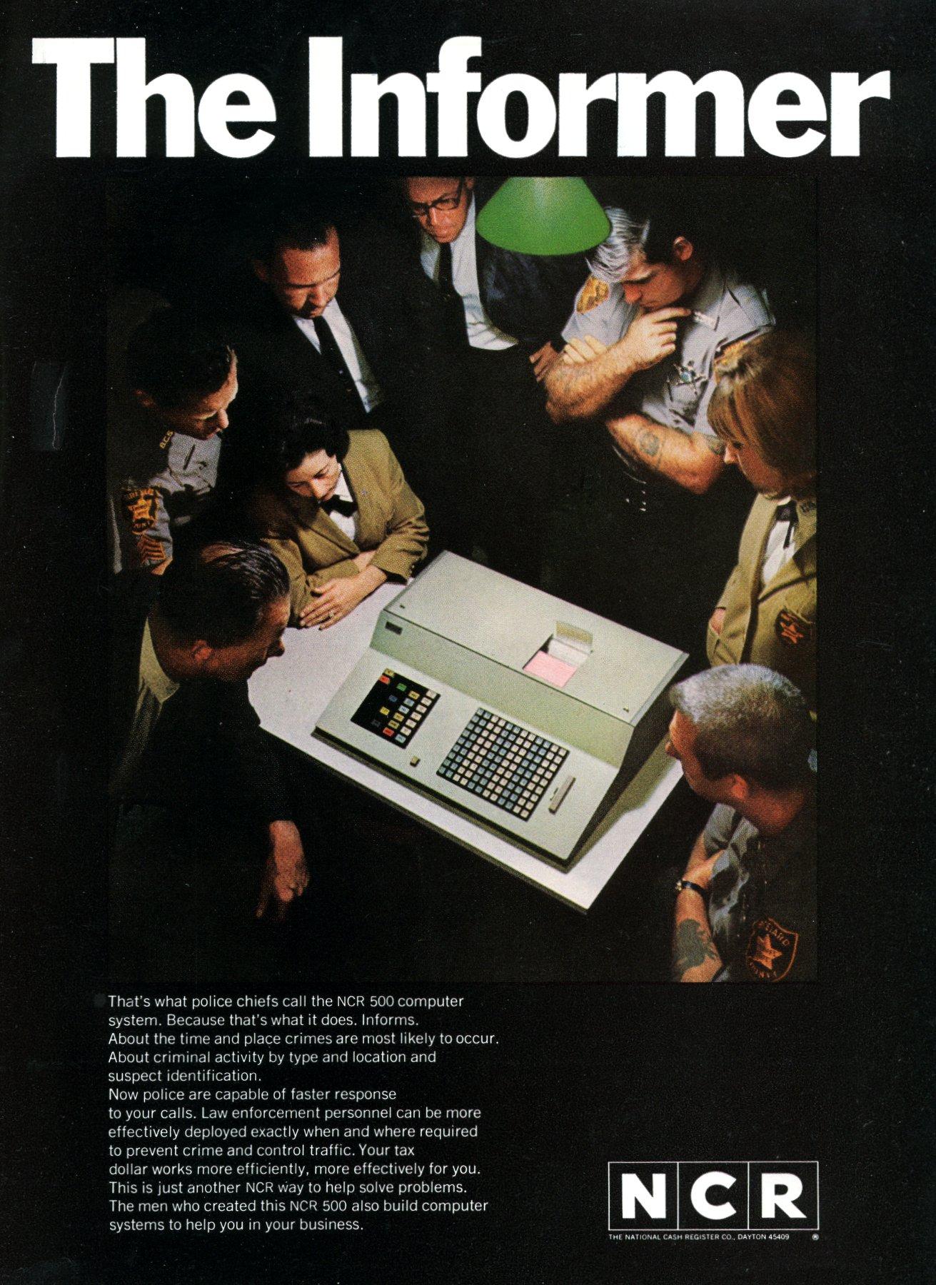 NCR Informer computer - Minority report-style (1967)