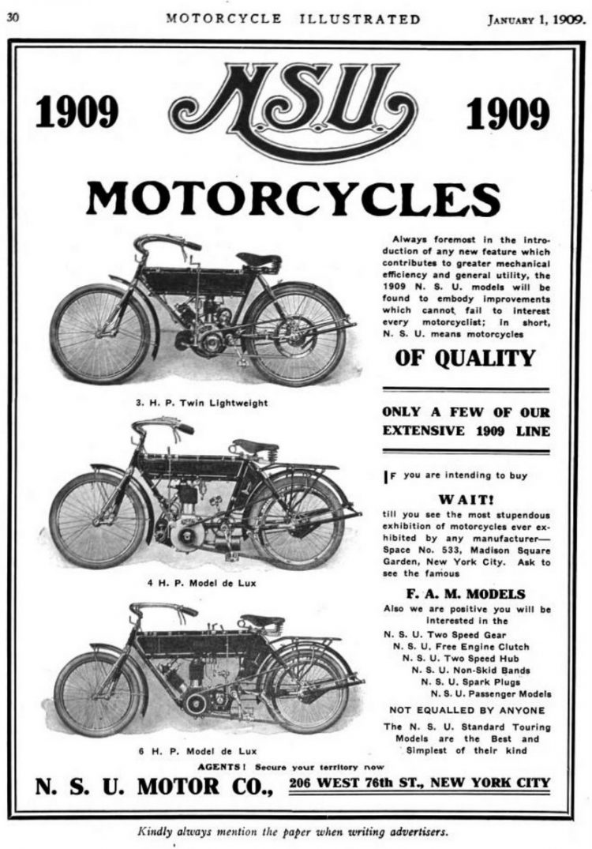 NSU 1909 vintage motorcycles