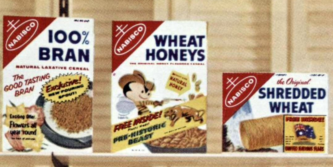 Nabisco cereals from 1959