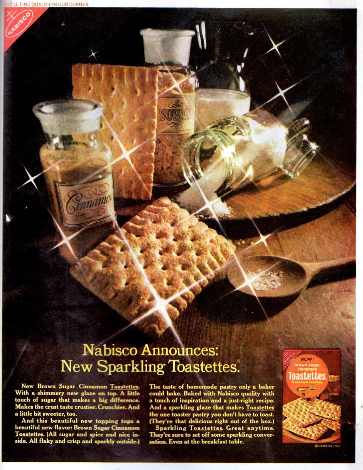 Nabisco sparkling brown sugar and cinnamon Toastettes (1968)