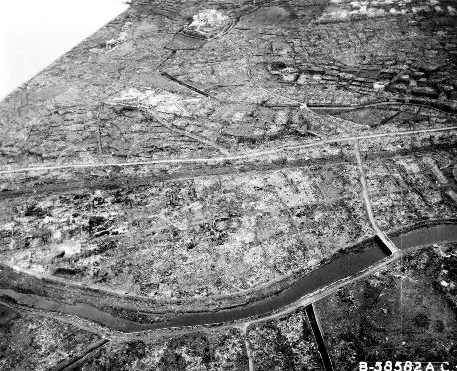 Nagasaki, Japan after atomic bombing (1945)