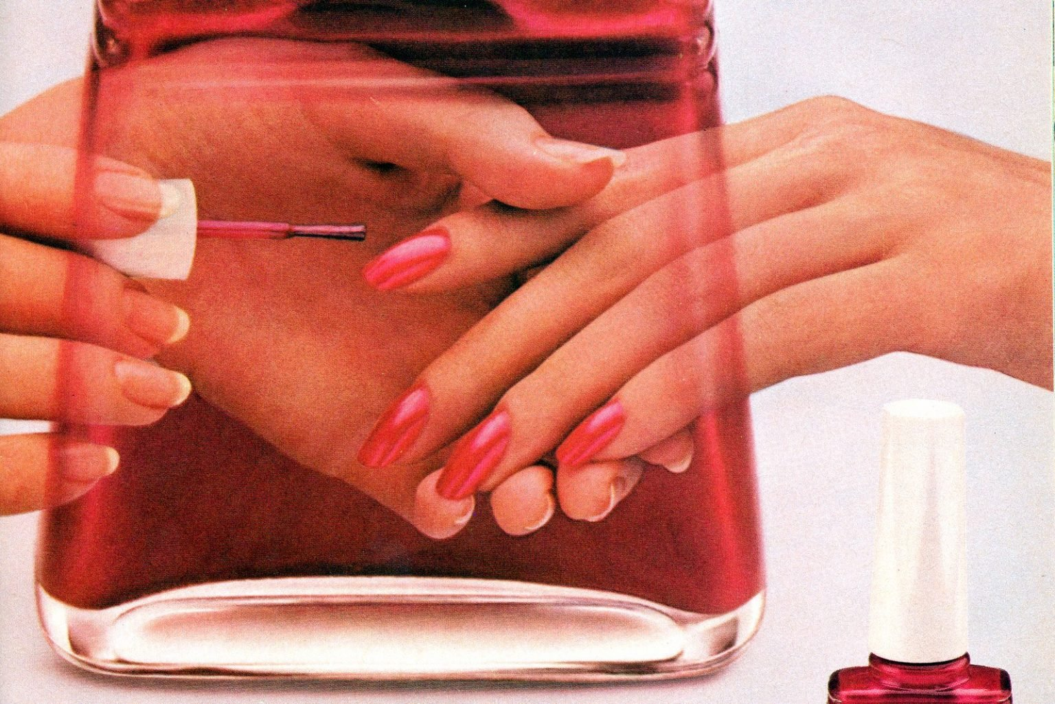 Nail polish ads from the '80s Popular colors - top brands (1980-1989)
