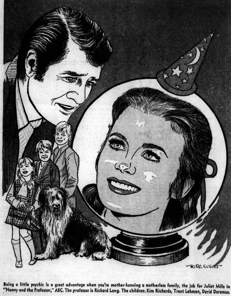 Nanny and the Professor - Art from the Muncie Evening Press - 1970