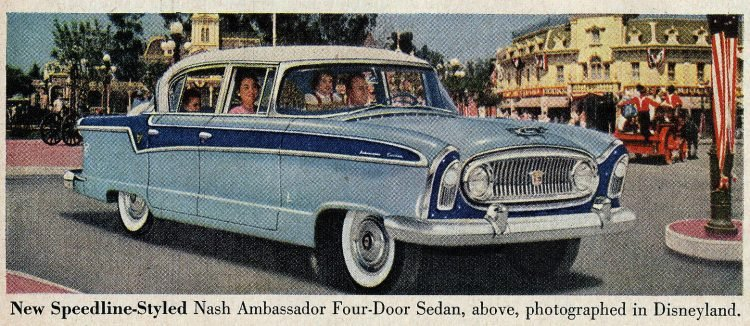 Nash Ambassador classic cars - At Disneyland in 1955 1956 (2)
