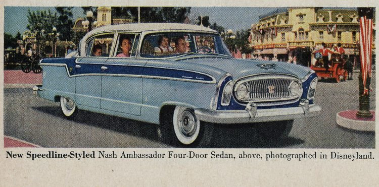 Nash Ambassador classic cars - At Disneyland in 1955 1956 (2)