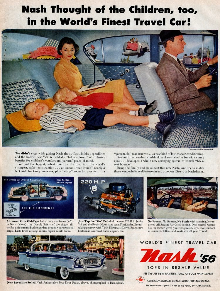 Nash Ambassador classic cars - At Disneyland in 1955 1956 (3)