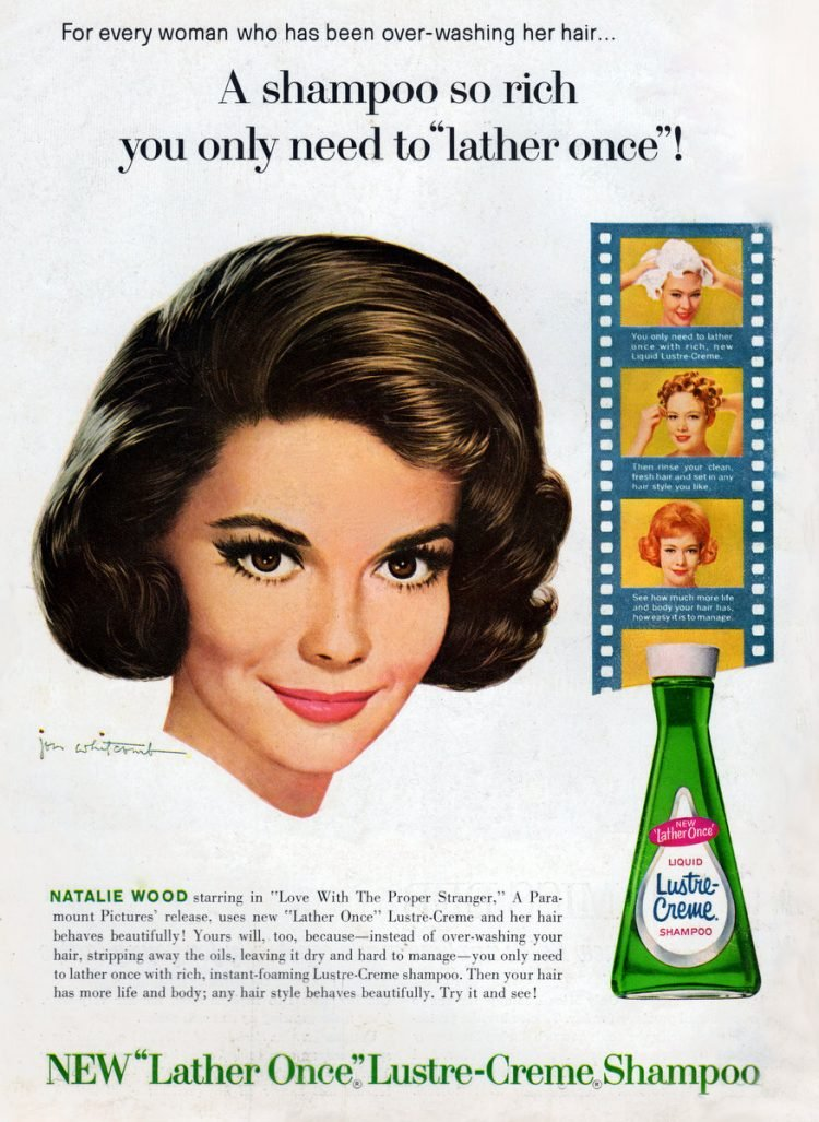 Natalie Wood for Lustre Creme shampoo 1963