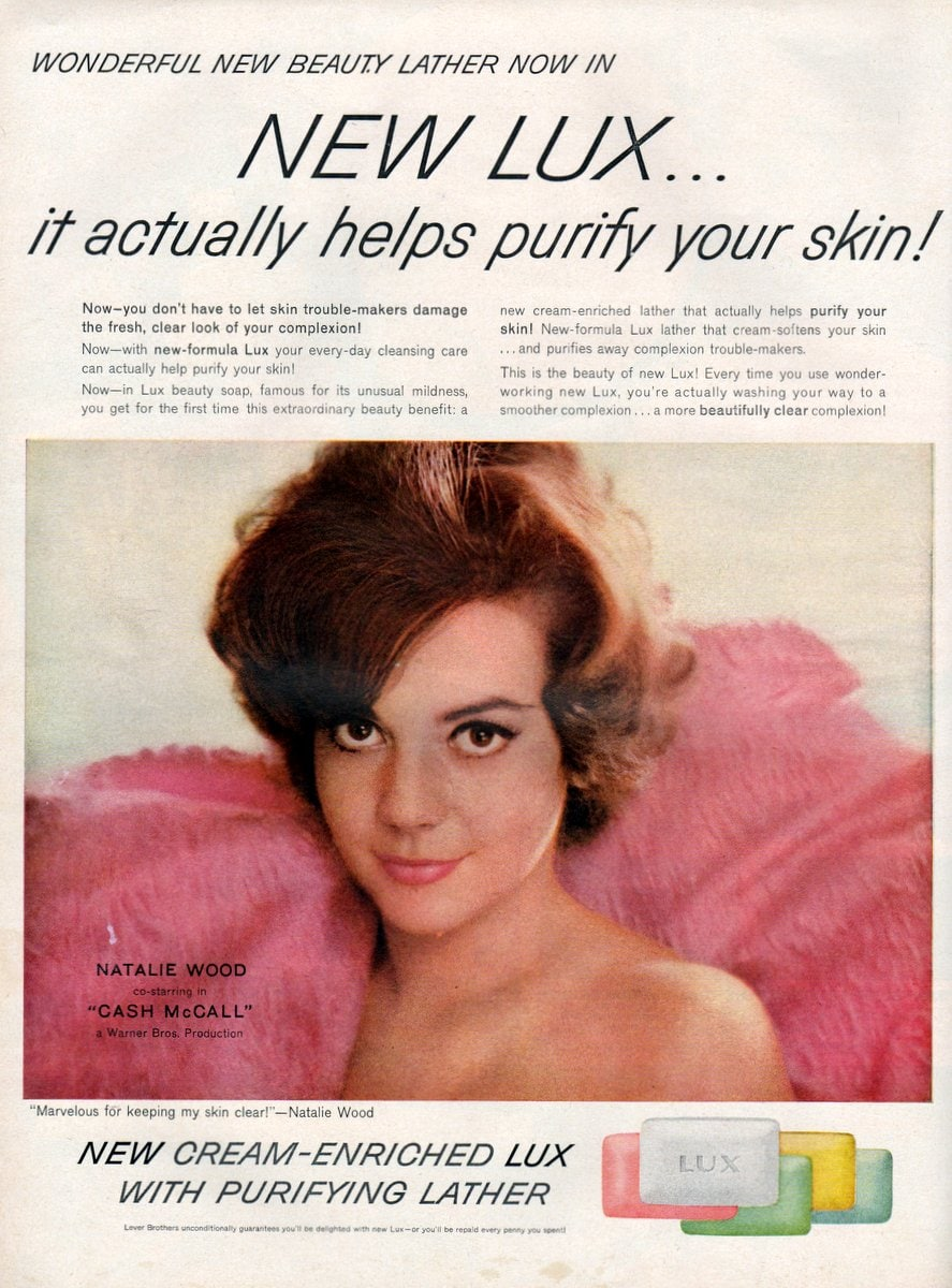 Natalie Wood for new Lux bar soap (1960)