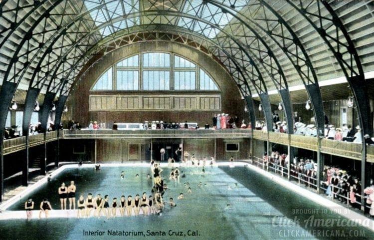 Interior Natatorium in Santa Cruz, California (c1910)
