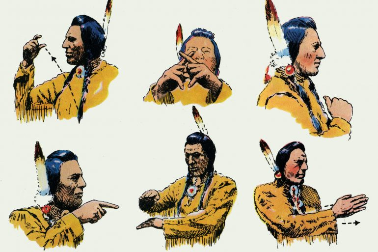 Native American Indian sign language guide