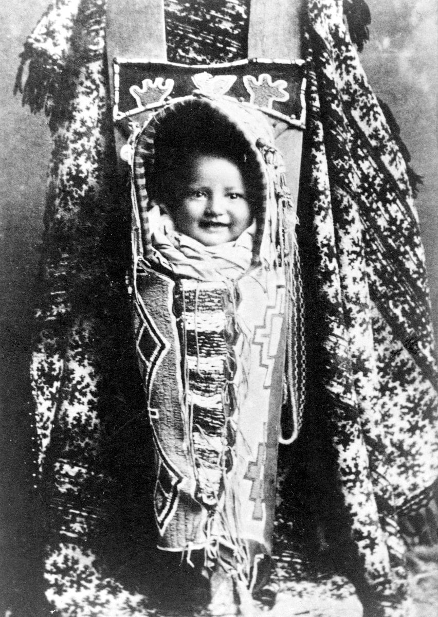 Native American baby in cradleboard c1899 - Photo by Frances B Johnston