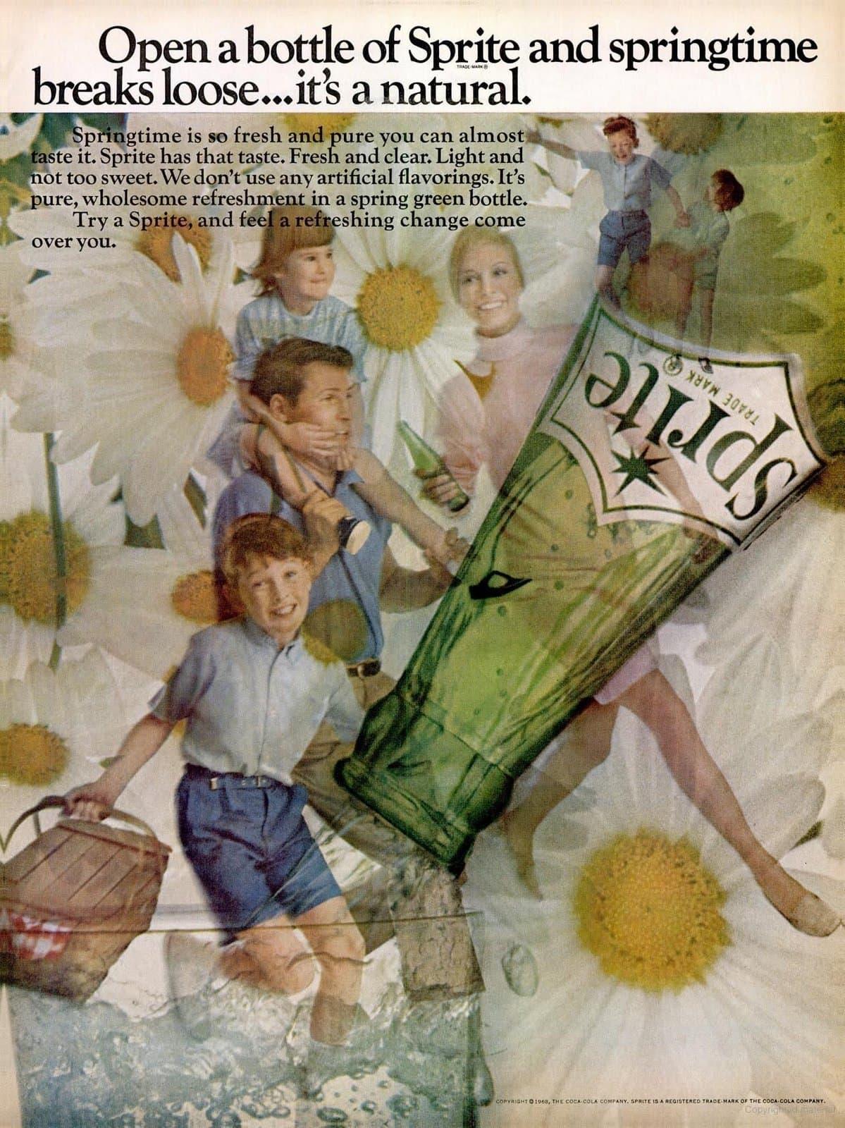 Natural Sprite soda (1960s)