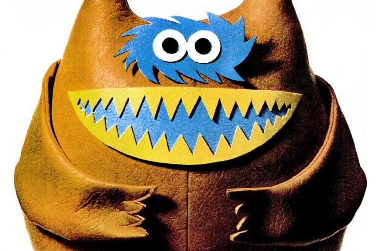 Nauga, the adorable toy monster mascot for Naugahyde vinyl upholstery