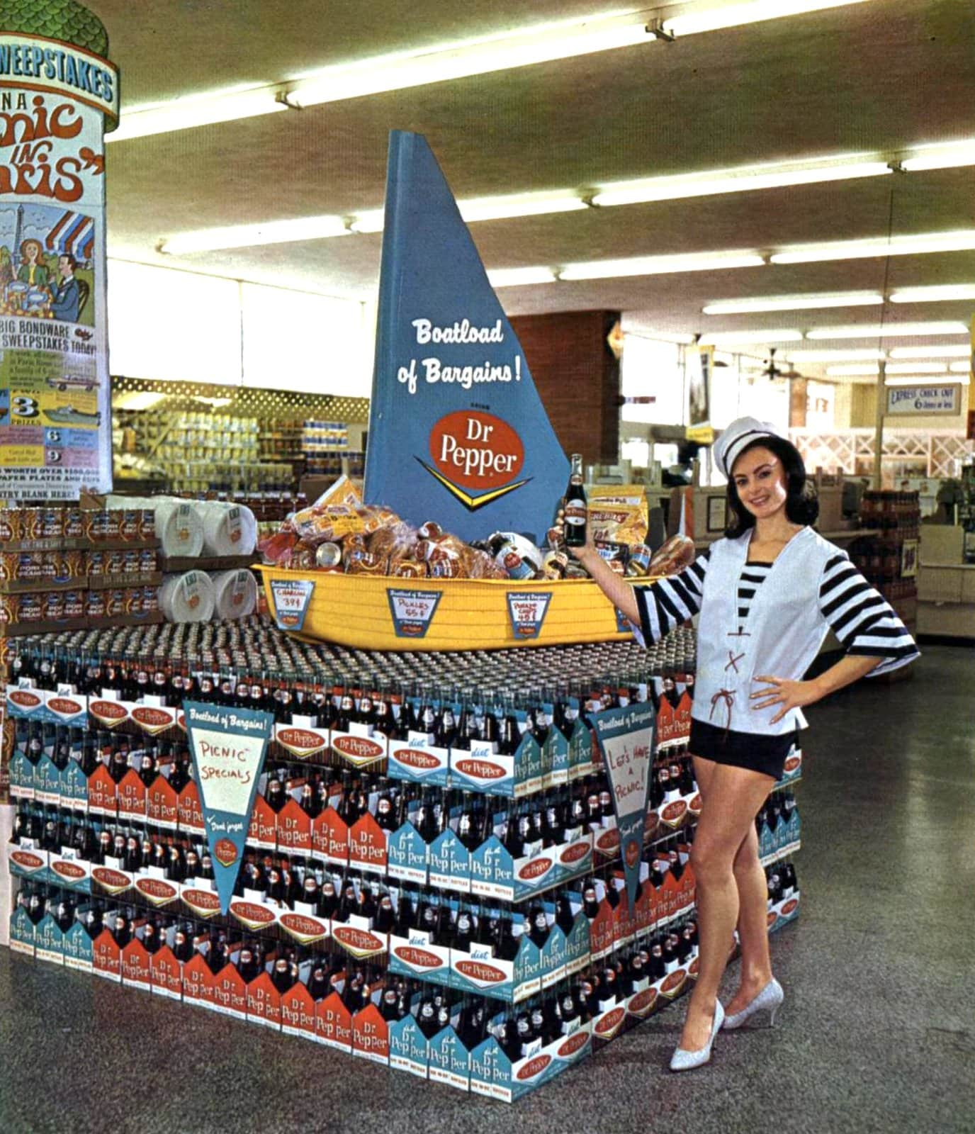 Nautical Dr Pepper store display (1966)