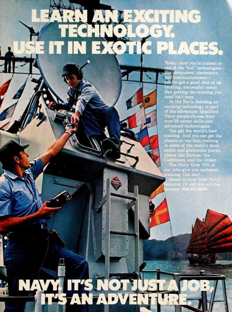 Navy - It's not just a job - it's an adventure ads 1970s (1)