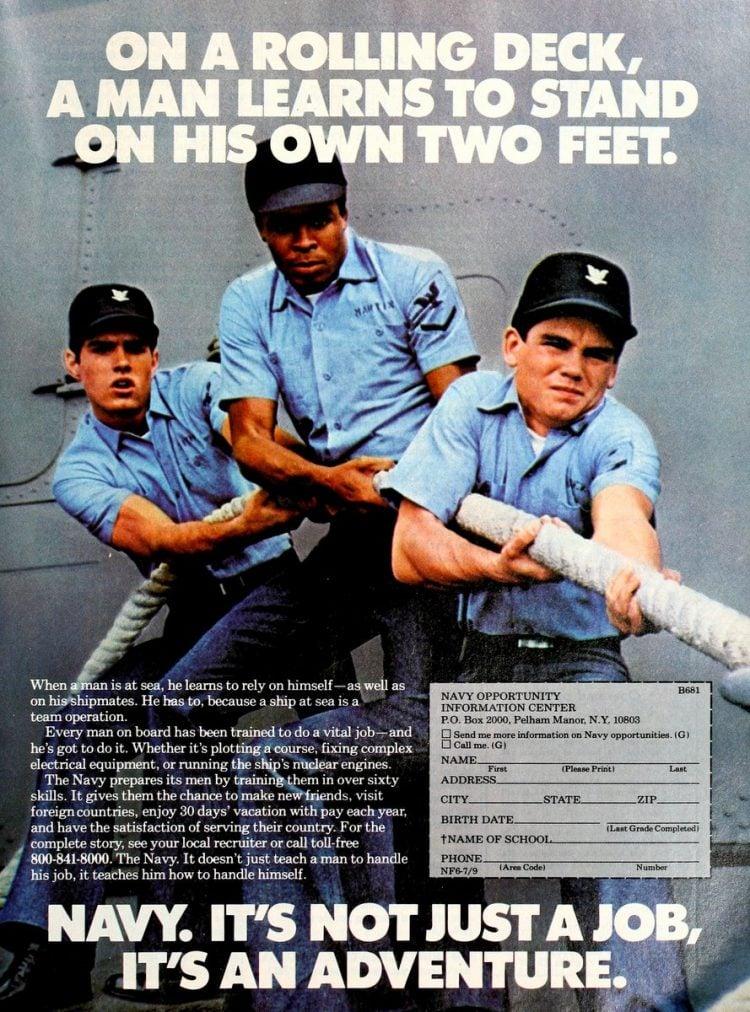 Navy - It's not just a job - it's an adventure ads 1970s (10)