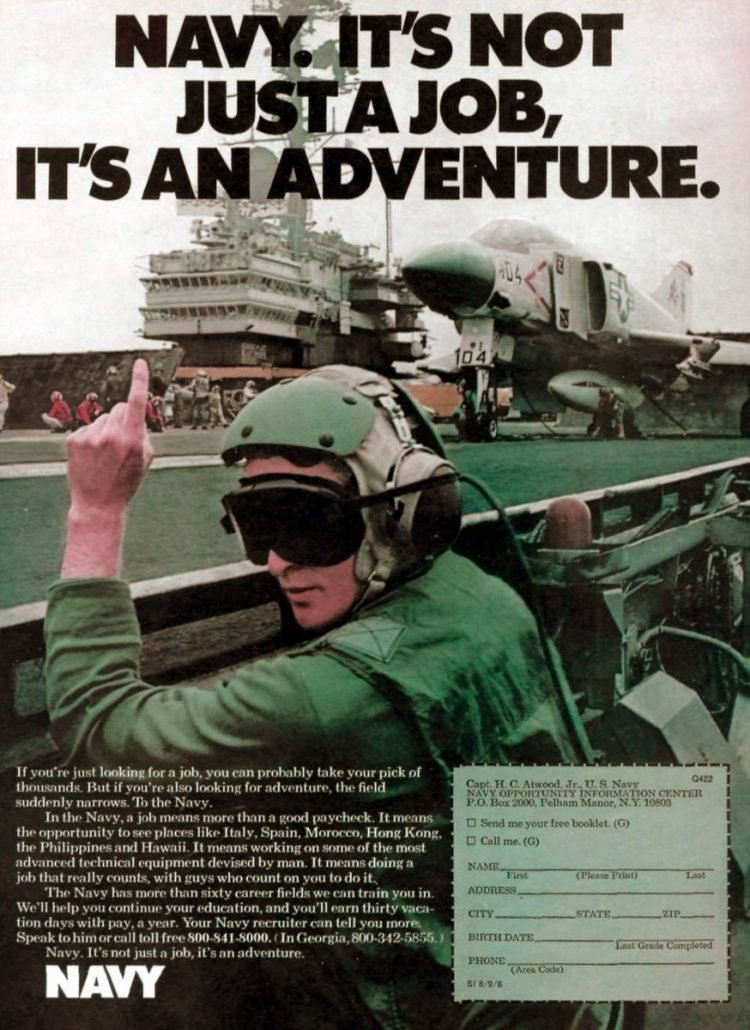 Navy - It's not just a job - it's an adventure ads 1970s (2)