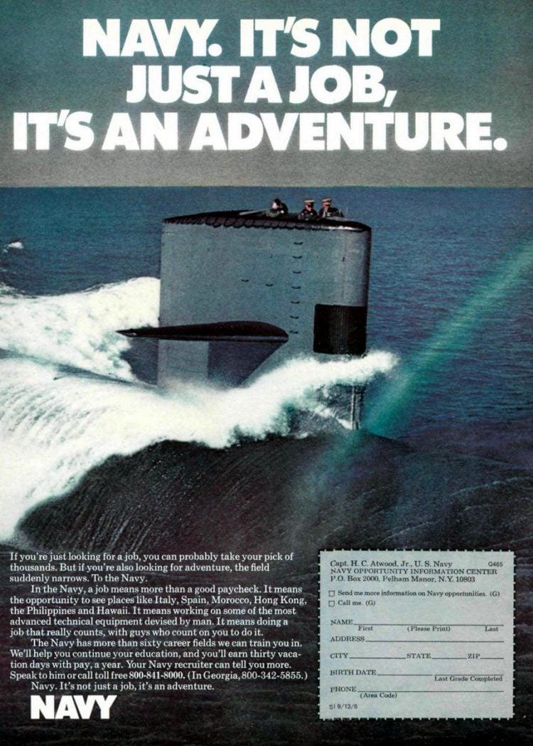 Navy - It's not just a job - it's an adventure ads 1970s (3)