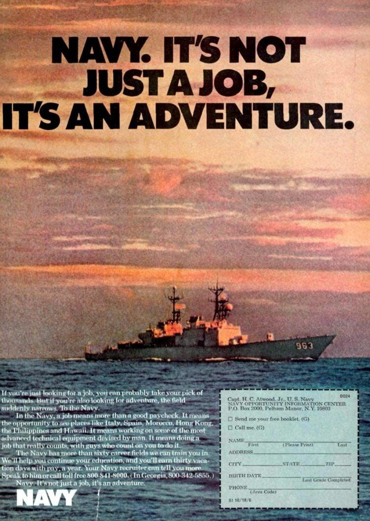 Navy - It's not just a job - it's an adventure ads 1970s (4)