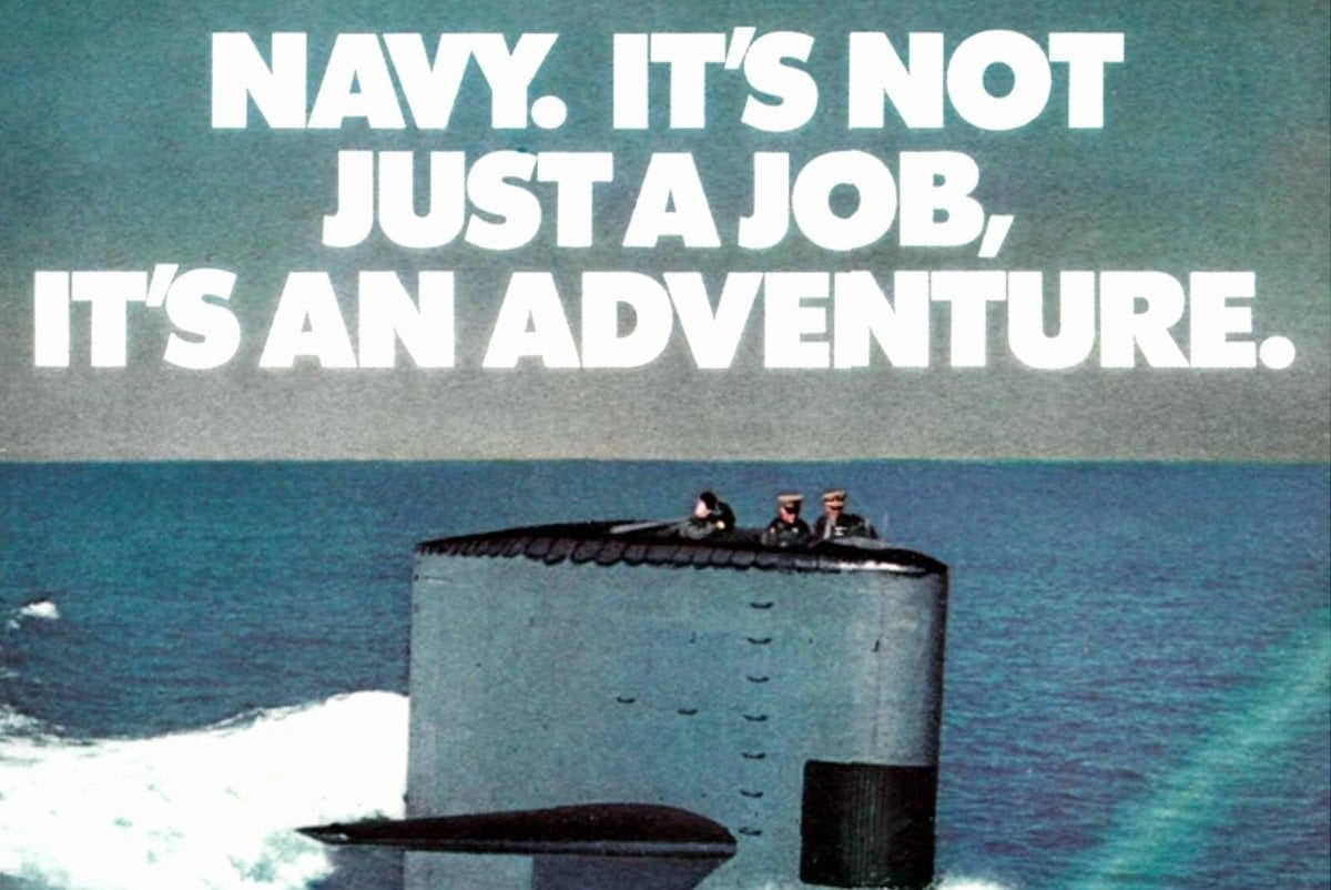 Navy - Not just a job - It's an adventure - Vintage 1970s recruitment