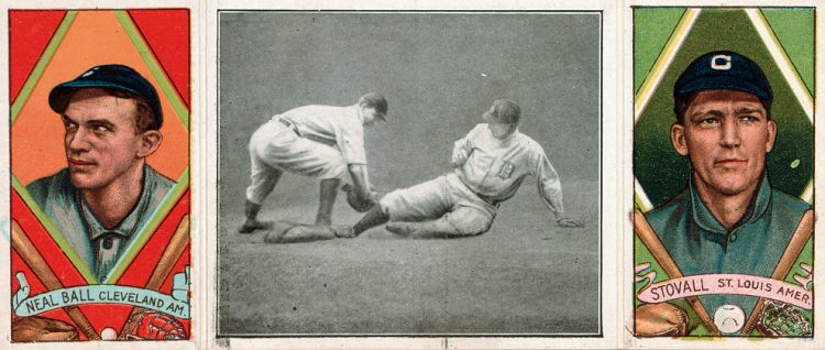 Neal Ball and Geo. T. Stovall, Cleveland Naps, St. Louis Browns, baseball 1912