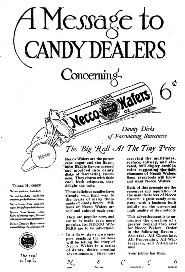 Necco Wafers 1919