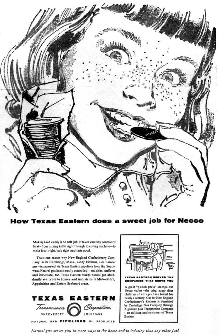 Necco Wafers ad - 1957