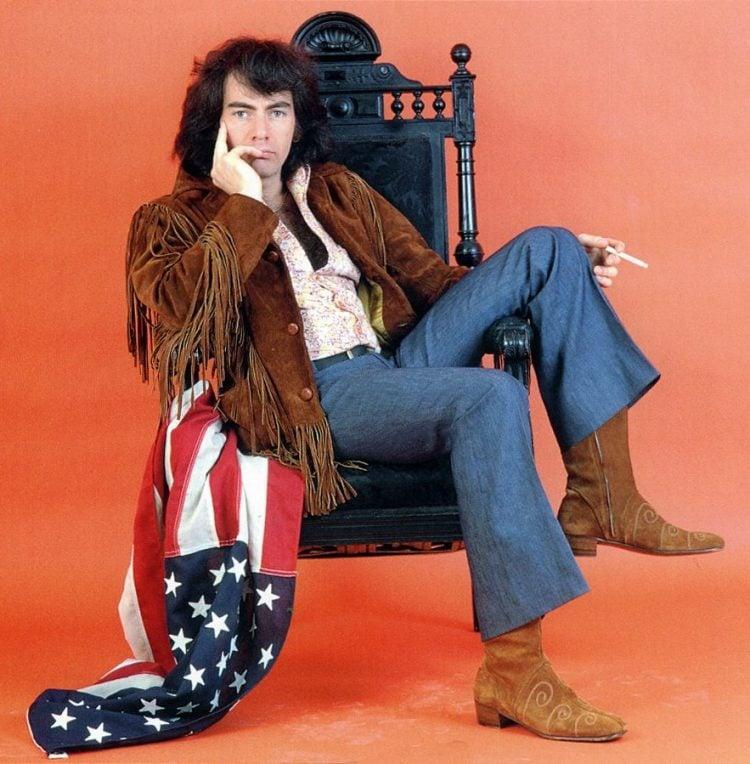 Neil Diamond - Leather fringe jacket and denim