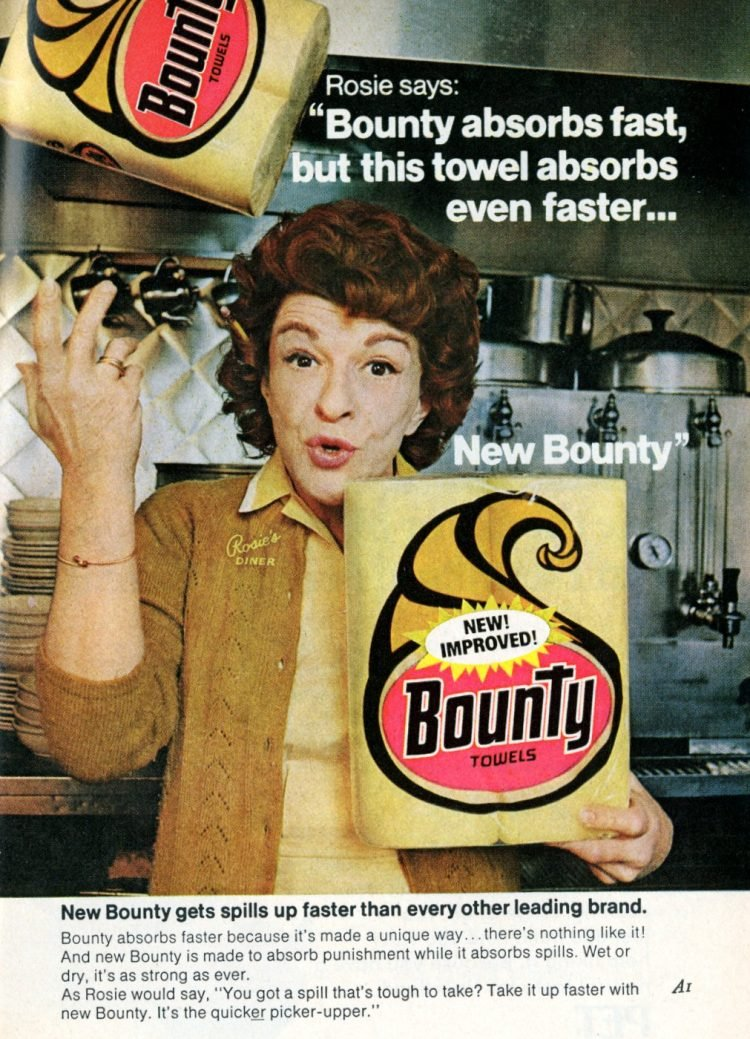 New Bounty vintage paper towels from 1973