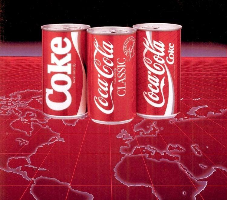 New Coke and Coca Cola Classic 1986