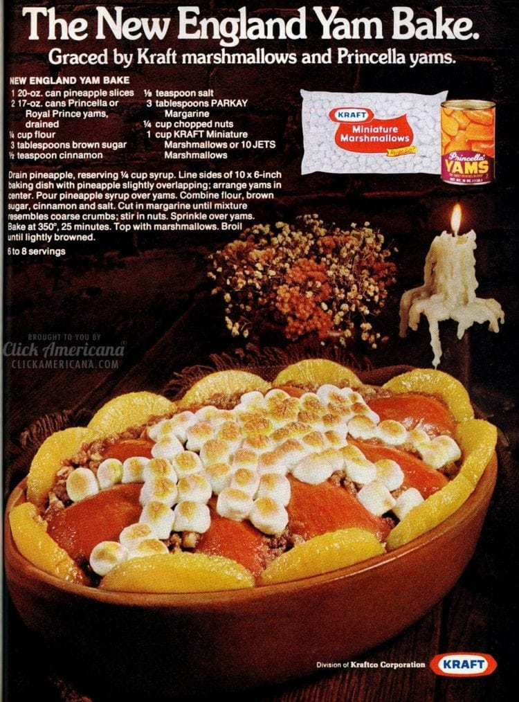 Classic New England Yam Bake recipe (1975)