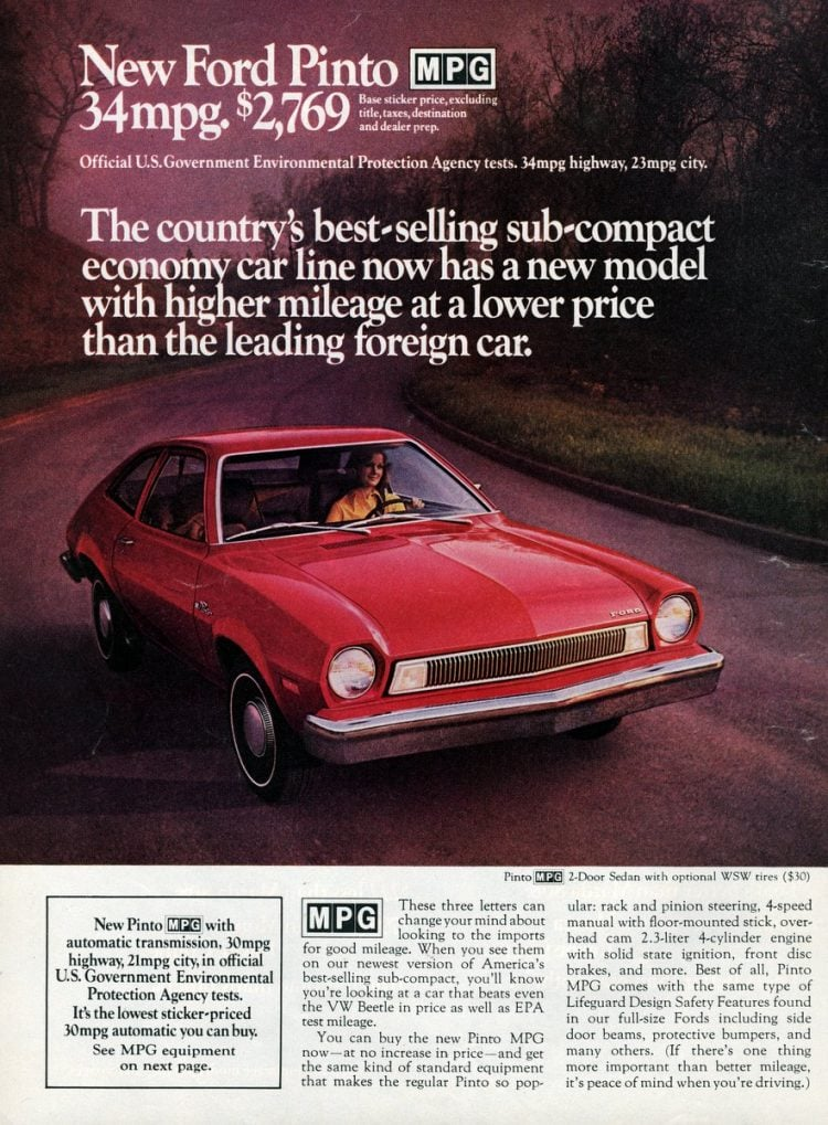 New Ford Pinto MPG (1975)