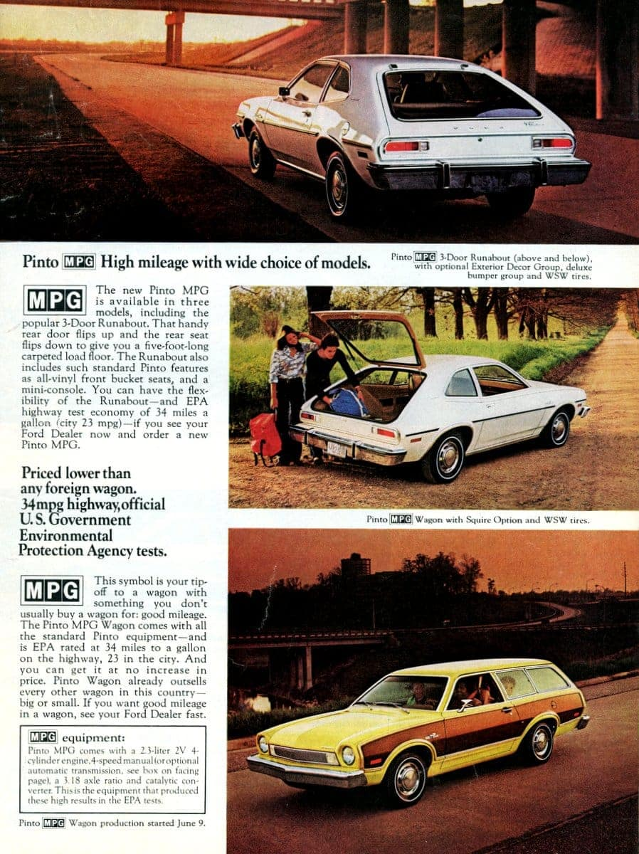 New Ford Pinto MPG 1975 cars