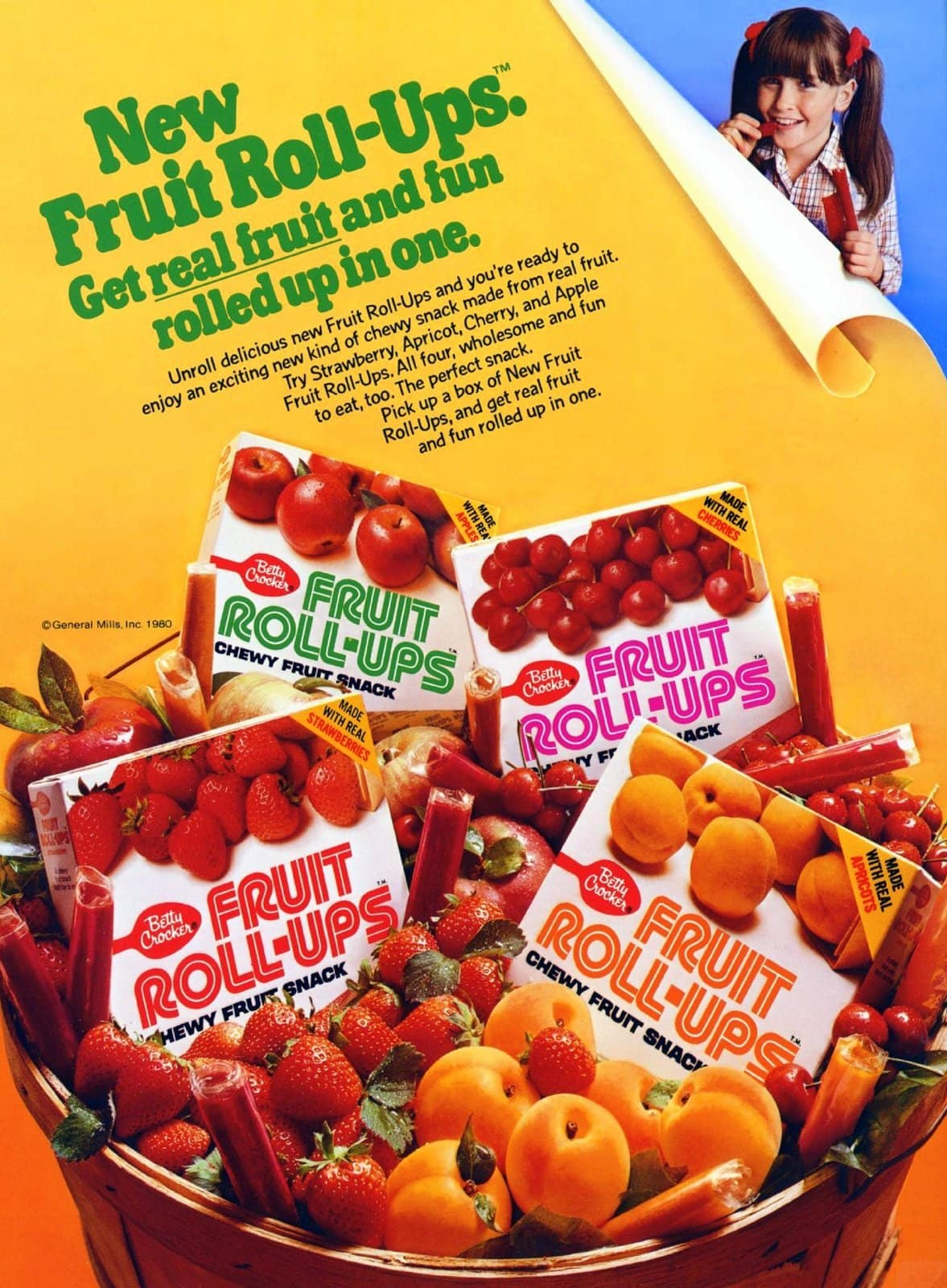 New Fruit Roll-Ups (Vintage snacks from 1980)
