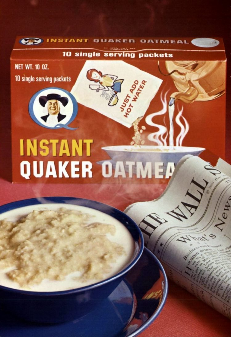 New Instant Quaker Oatmeal - 1965