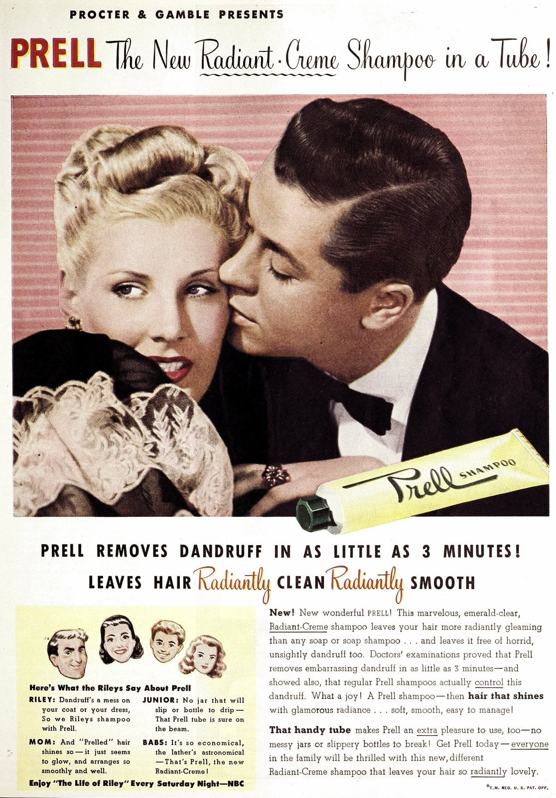 New Prell shampoo from Proctor and Gamble (1947)