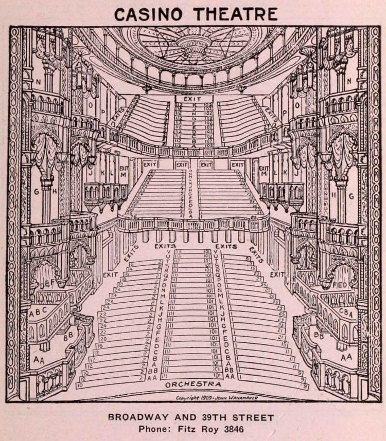 New York Theatres in 1922 - Casino Theatre