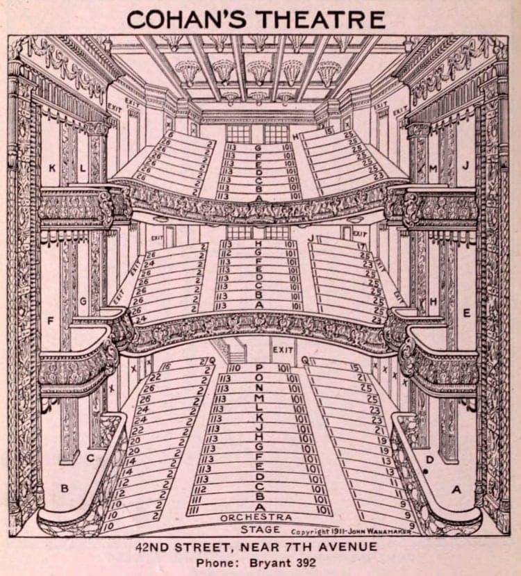 New York Theatres in 1922 - Cohan Theatre