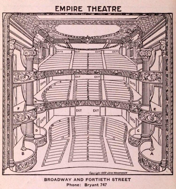 New York Theatres in 1922 - Empire Theatre
