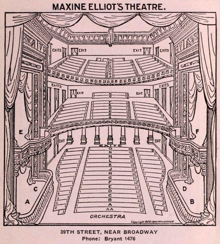 New York Theatres in 1922 - Maxine Elliot Theatre