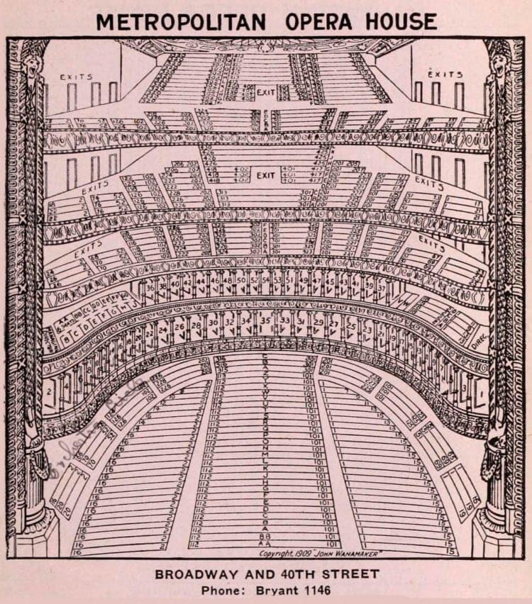 New York Theatres in 1922 - Metropolitan Opera House