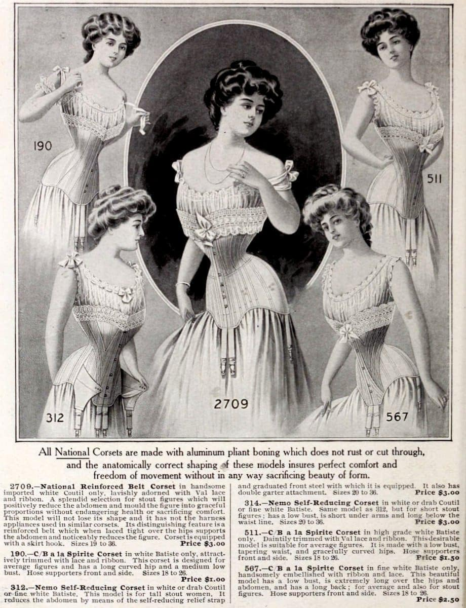 New York fashions - Corsets from 1908