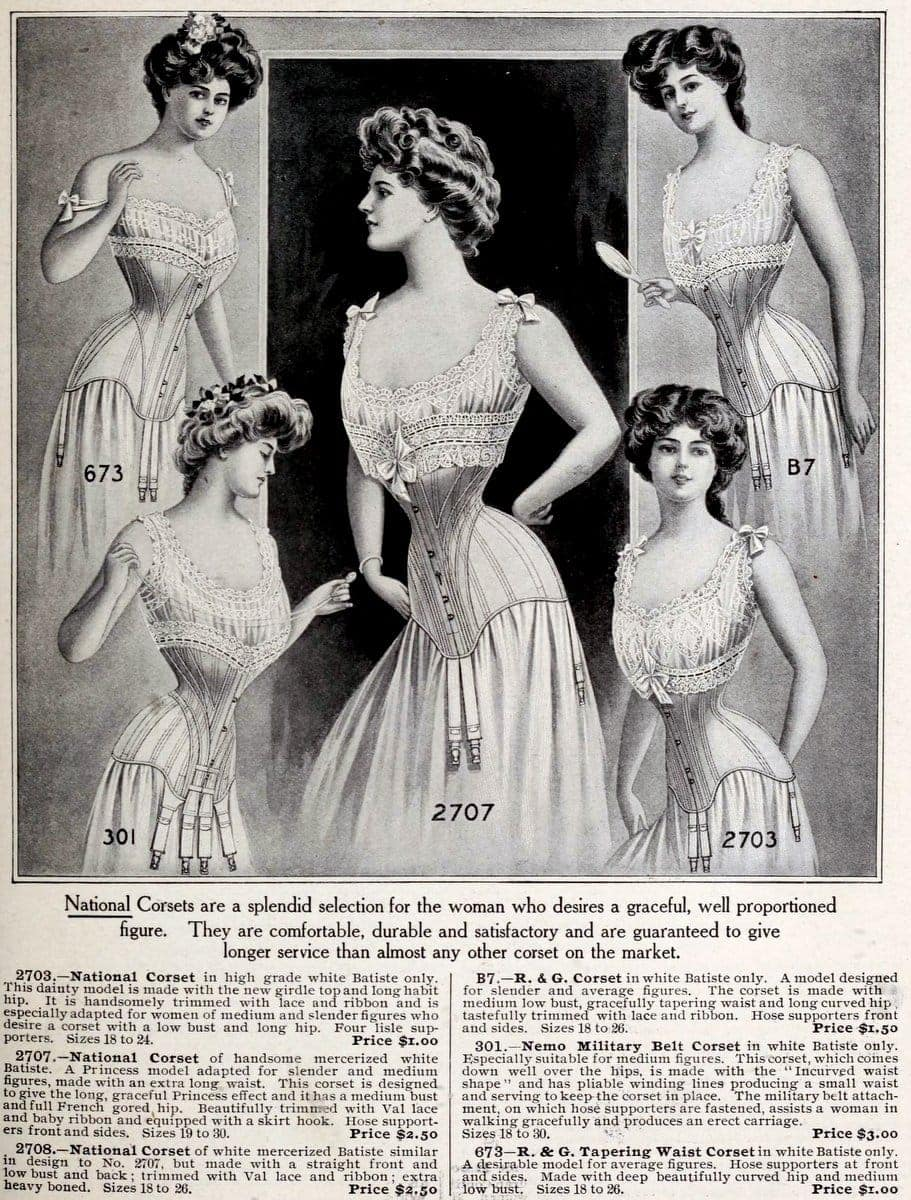 New York fashions - National Corsets from 1908