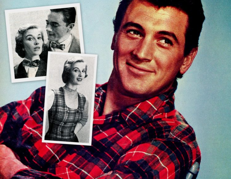 Rock Hudson in a plaid shirt - upcycle plaid