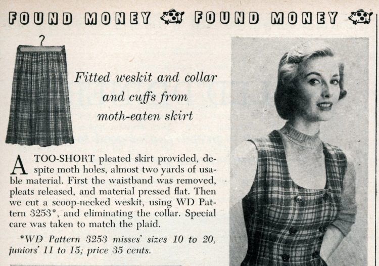 New accessories from old plaids How to use old clothing to sew something new from 1950 (5)