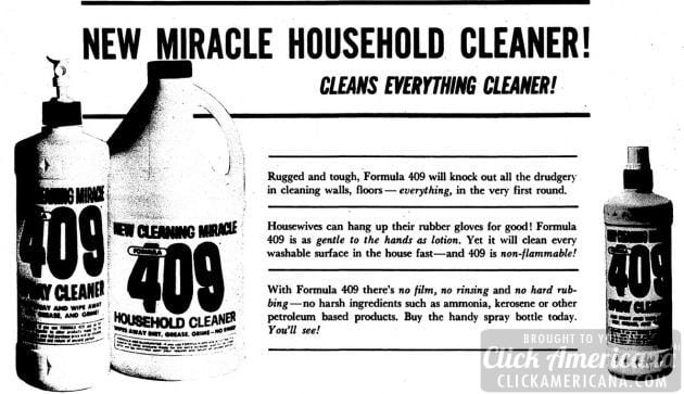 New miracle household cleaner! Formula 409 (1966)