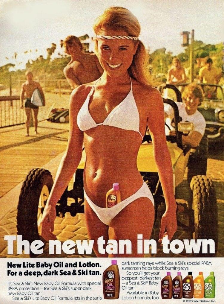 New tan in town - Sea and Ski baby oil tan
