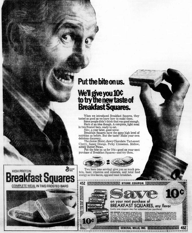 New taste of Breakfast Squares - 1972